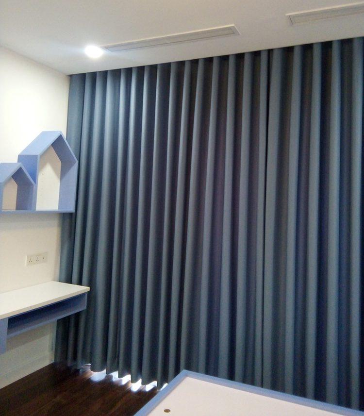 mẫu rèm RTM 1080-29 màu xanh cao cấp