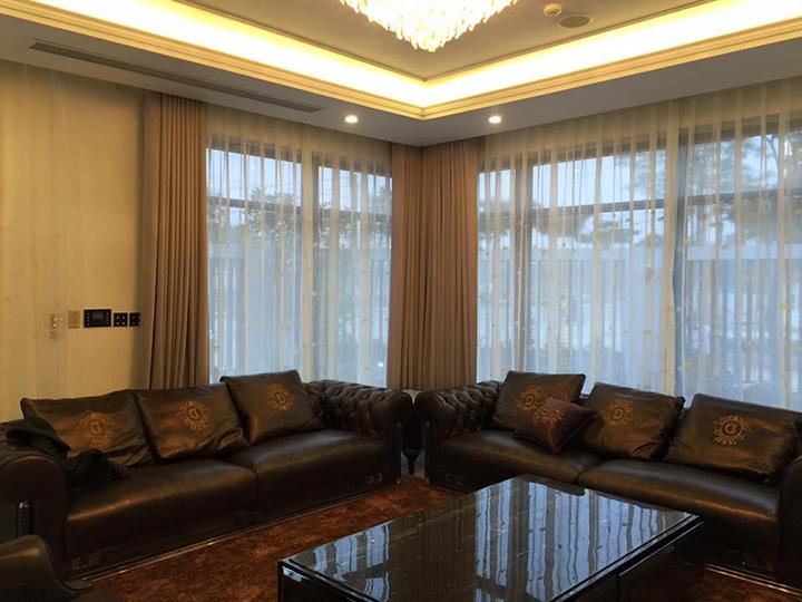 Hình ảnh mẫu rèm thô phòng khách RTM-5065