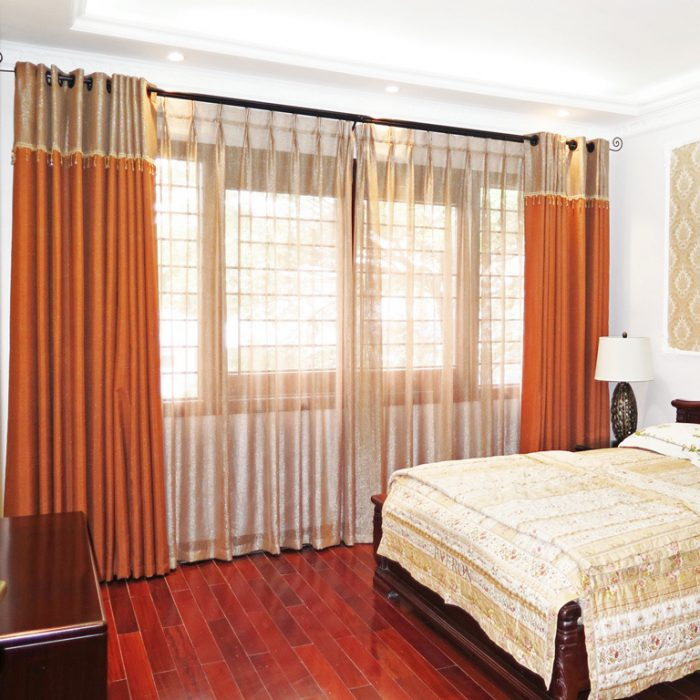 Mẫu rèm vải thô, trơn RTM 18031-48 màu cam