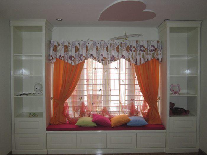Rèm phòng ngủ cho bé vải thô, trơn RTM 18031-48