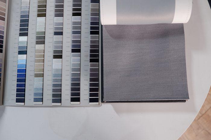 Rèm vải thô, trơn RTM 5065-15 tone màu ghi tôn lên sự sang trịnh và thanh lịch