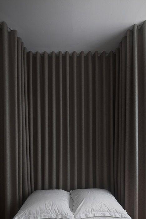 Rèm vải thô, trơn RTM 5065 không gian phòng ngủ