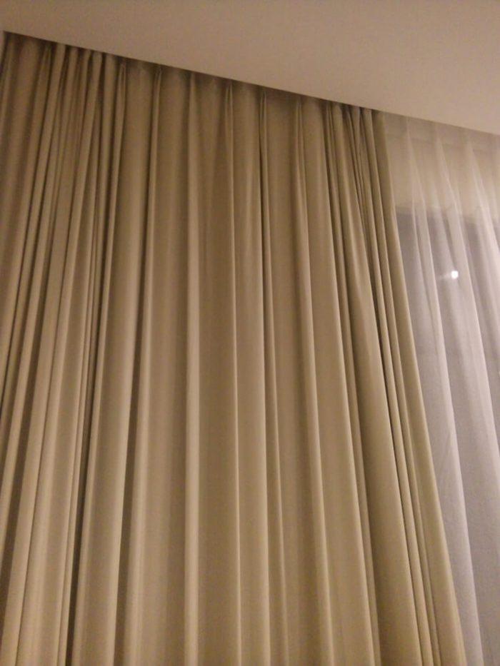 Hình ảnh thực tế Rèm vải thô, trơn RTM 5065-6
