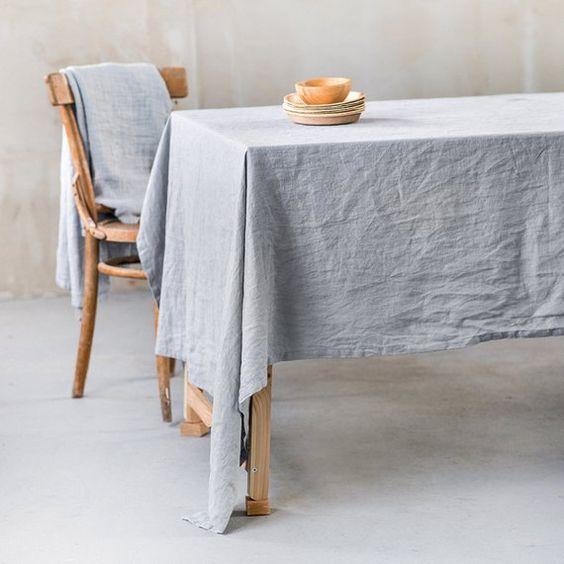 Rèm vải bố, linen RCH-Dusty Aqua