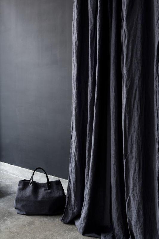 Rèm vải bố linen RCH-violet plum mền rủ