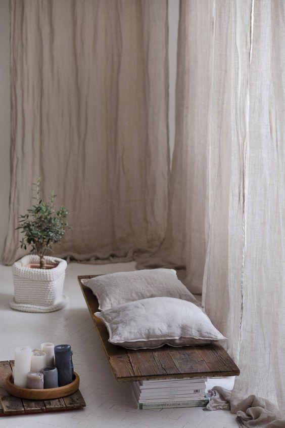 Rèm vải linen, bố RCH-Nature Light