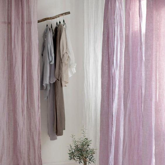 Rèm vải không gian phòng thay đồ