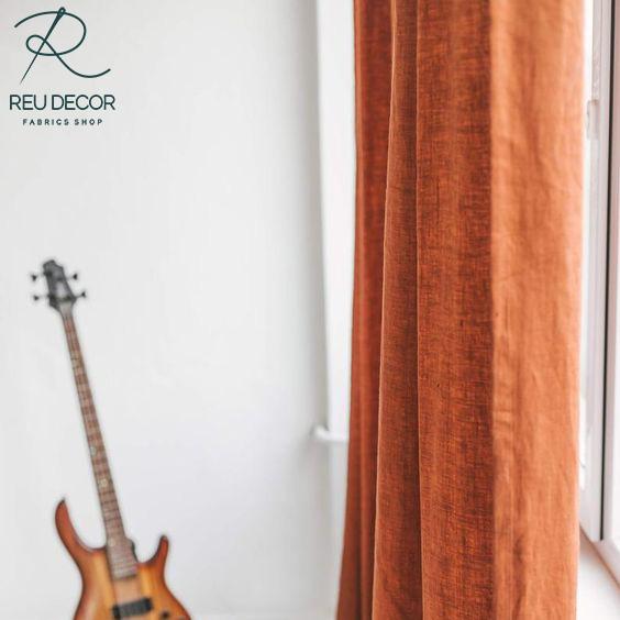 LDP6 – Rèm vải linen, vải bố – Rèm vải line, bố RLB002