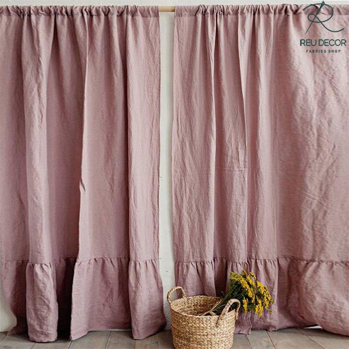 LDP6 – Rèm vải linen, vải bố – Rèm vải line, bố RLB005