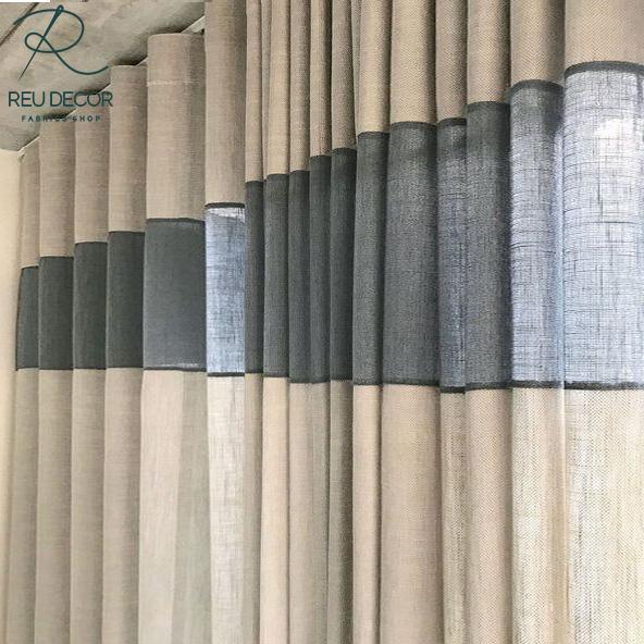 LDP6 – Rèm vải linen, vải bố – Rèm vải line, bố RLB007