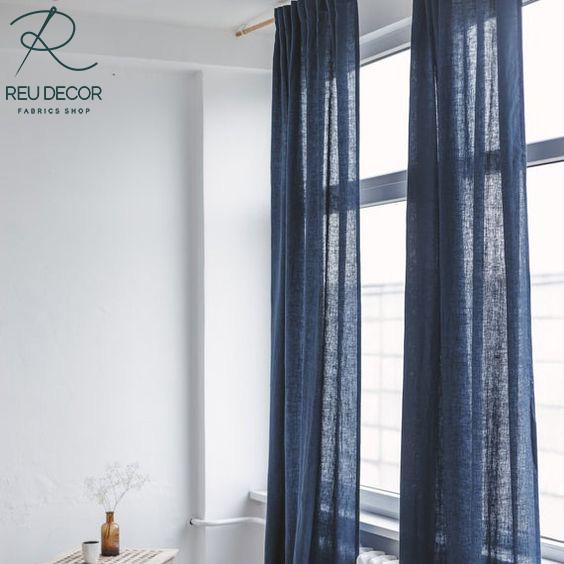LDP6 – Rèm vải linen, vải bố – Rèm vải line, bố RLB004